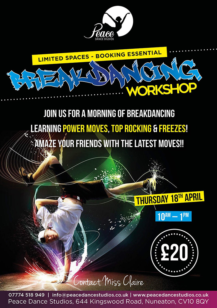 Breakdancing Workshop Banner