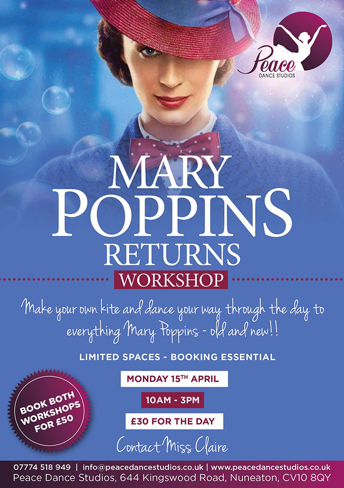 Mary Poppins Workshop Banner
